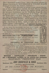 Advert For Crosfield's Soap reverse